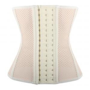 Nude 9 Steel Bone Breathable Gym Latex Waist Trainer Corset