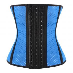 Blue 9 Steel Bone Breathable Gym Latex Waist Trainer Corset