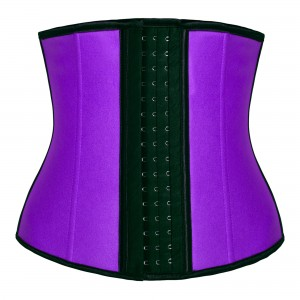 Purple 4 Steel Bone Latex Waist Trainer Corset