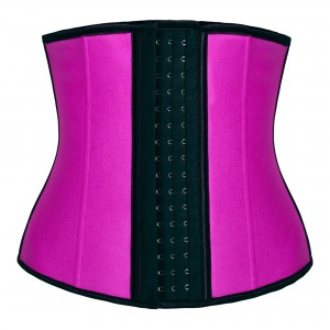 Pink 4 Steel Bone Latex Waist Trainer Corset