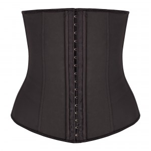 Black 4 Steel Bone Latex Waist Trainer Corset