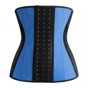 Blue 9 Steel Bone Slim Latex Waist Trainer Corset