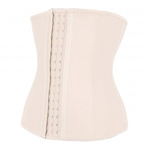 Nude 25 Steel Bone Latex Waist Trainer Corset