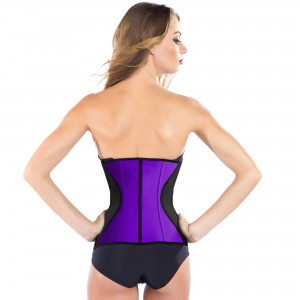 Purple 9 Steel Bone Slim Latex Waist Trainer Corset