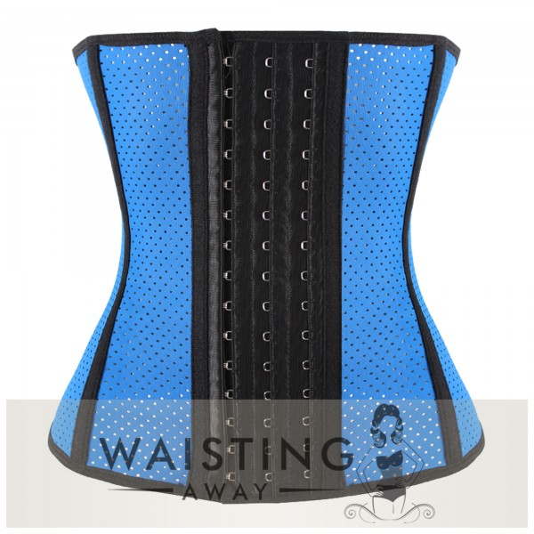 Blue 9 Steel Bone Breathable Gym Latex Waist Trainer Corset Corset