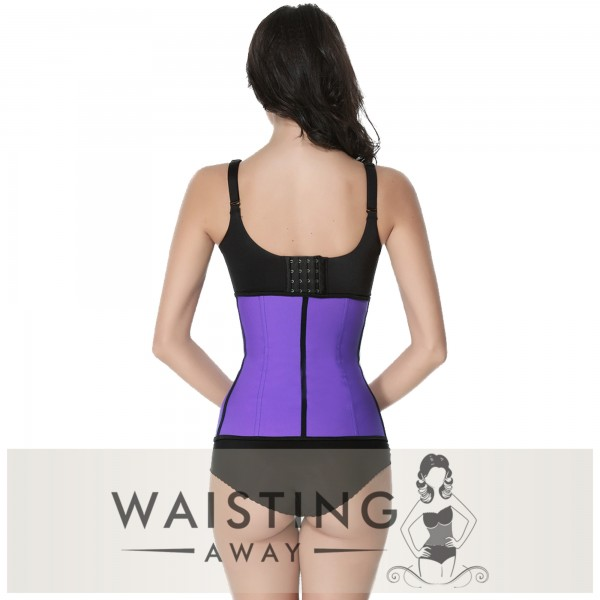 Purple 9 Steel Bone Latex Waist Trainer Corset Corset