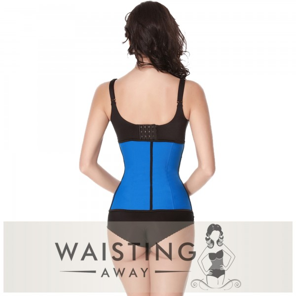 Blue 9 Steel Bone Latex Waist Trainer Corset Corset