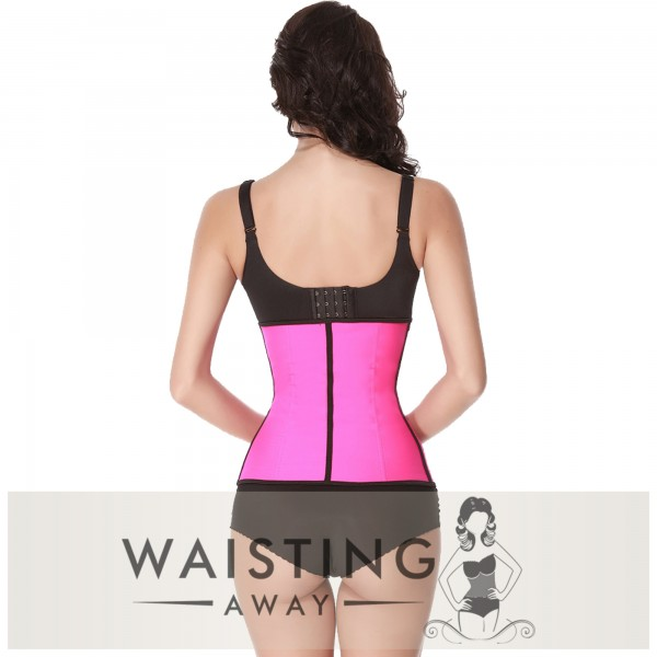 Pink 9 Steel Bone Latex Waist Trainer Corset Corset