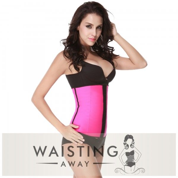 Pink 4 Steel Bone Latex Waist Trainer Corset Corset