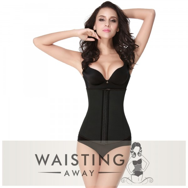 Black 4 Steel Bone Latex Waist Trainer Corset Corset