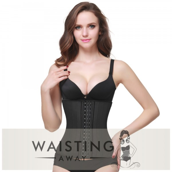 Black 25 Steel Bone Latex Waist Trainer Corset Corset