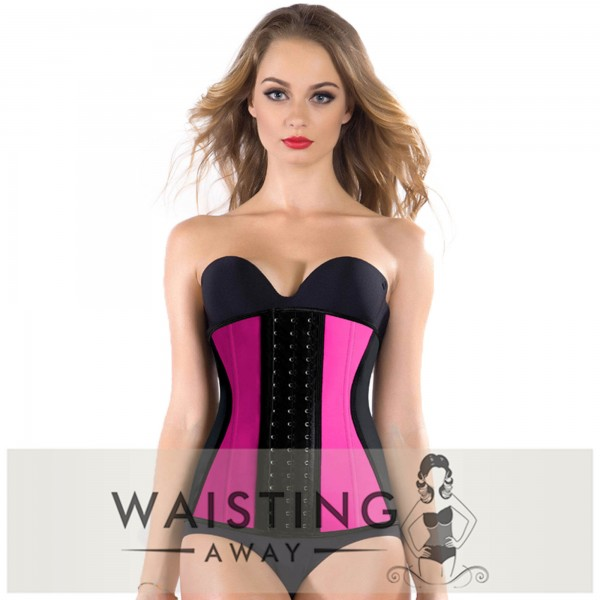 Pink 9 Steel Bone Slim Latex Waist Trainer Corset Corset